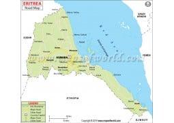 Eritrea Road Map - Digital File