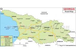 Georgia Road Map - Digital File