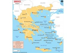 Greece Airports Map - Digital File