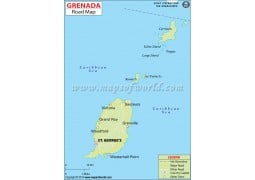 Grenada Road Map - Digital File
