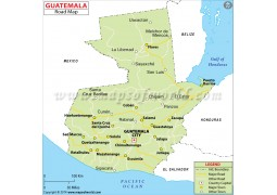 Guatemala Road Map - Digital File