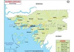Guinea Bissau Road Map - Digital File