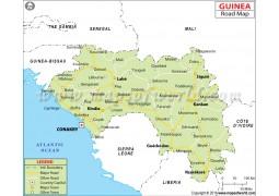 Guinea Road Map - Digital File