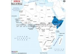 Horn of Africa Map - Digital File