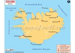 Iceland Airport Map - Digital File