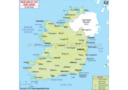 Road Map of Ireland
