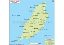 Isle Of Man Road Map - Digital File