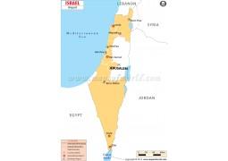 Israel Airports Map - Digital File