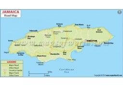 Jamaica Road Map - Digital File