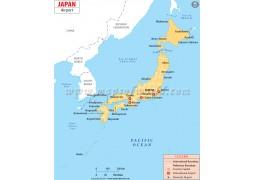 Japan Airport Map  - Digital File