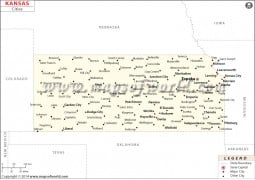 Kansas Cities Map - Digital File