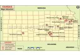 Kansas Major Attraction Map - Digital File