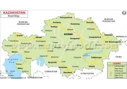 Kazakhstan Road Map - Digital File