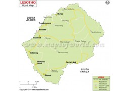 Lesotho Road Map - Digital File