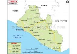 Liberia Road Map - Digital File