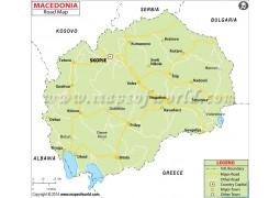 Macedonia Road Map - Digital File