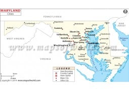 Maryland Cities Map - Digital File