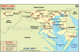 Maryland Major Attraction Map - Digital File