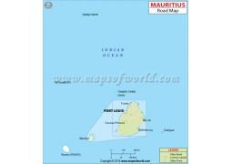 Mauritius Road Map - Digital File