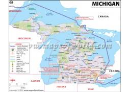 Map of Michigan - Digital File