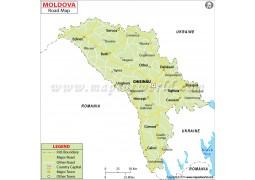 Moldova Road Map - Digital File