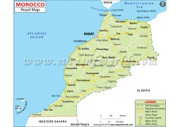 Morocco Road Map - Digital File
