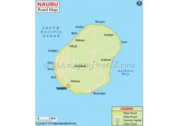 Nauru Road Map - Digital File