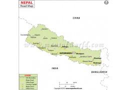 Nepal Road Map - Digital File
