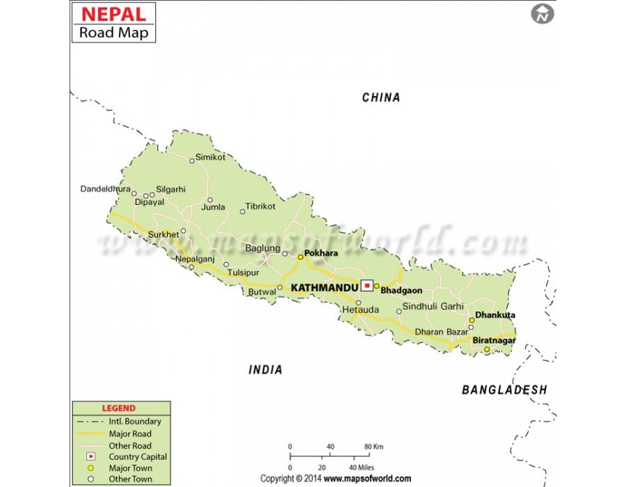Buy Nepal Road Map