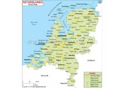 Netherlands Road Map - Digital File