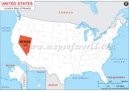Nevada Location Map