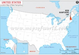 New Hampshire Location Map - Digital File