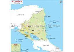 Nicaragua Road Map - Digital File