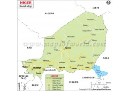 Niger Road Map - Digital File