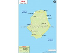 Niue Road Map - Digital File