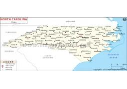 Map of North Carolina Cities - Digital File