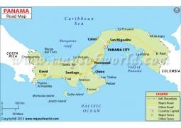 Panama Road Map - Digital File