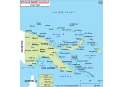 Papua New Guinea Road Map - Digital File