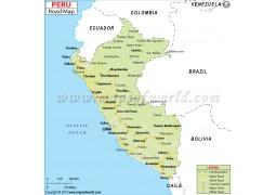 Peru Road Map - Digital File