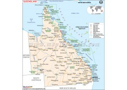 Queensland State Map - Digital File