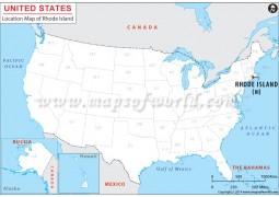 Rhode Island Location Map - Digital File
