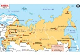Russia Airport Map - Digital File