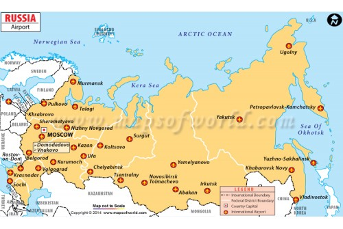 Buy Russia Latitude And Longitude Map - Russia political map