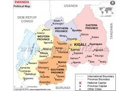 Rwanda Political Map  - Digital File