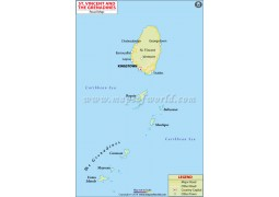 Saint Vincent and The Grenadines Road Map - Digital File