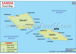Samoa Road Map - Digital File