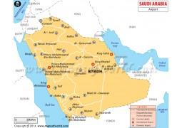 Saudi Arabia Airport Map - Digital File