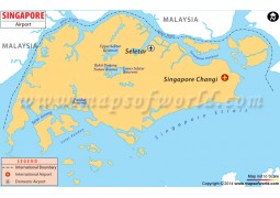 Singapore Airport Map - Digital File