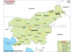 Slovenia Road Map - Digital File