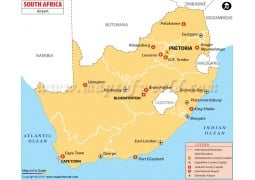 South Africa Airport Map - Digital File